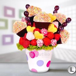 kytice z bombónů